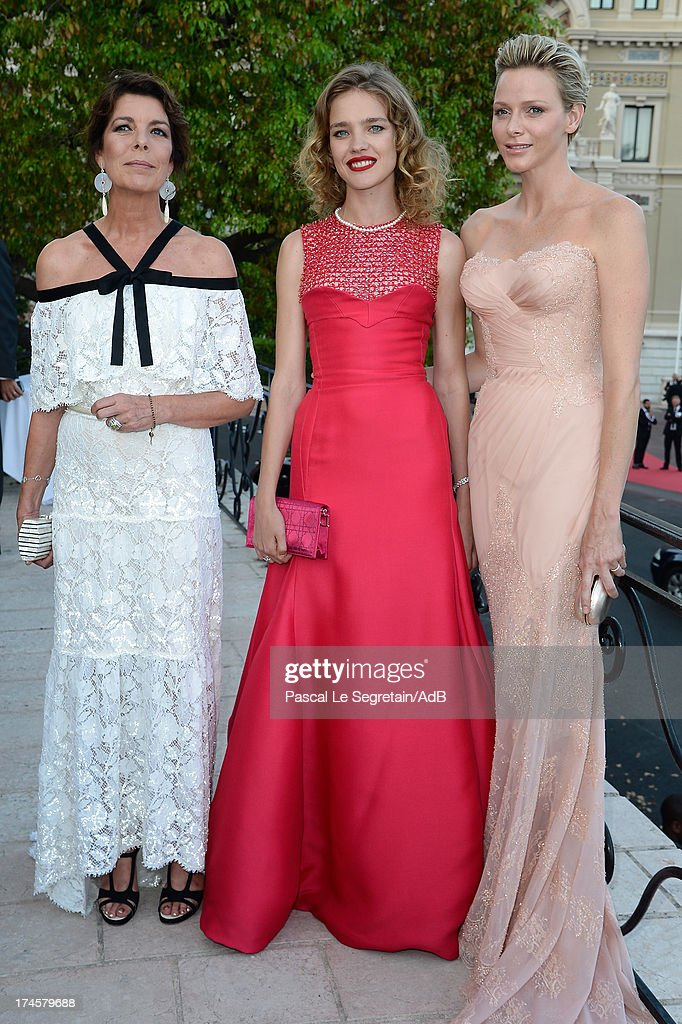 Princess Caroline of Hanover, <a gi-track='captionPersonalityLinkClicked' href=/galleries/search?phrase=Natalia+Vodianova&family=editorial&specificpeople=203265 ng-click='$event.stopPropagation()'>Natalia Vodianova</a> and Princess <a gi-track='captionPersonalityLinkClicked' href=/galleries/search?phrase=Charlene+-+Princess+of+Monaco&family=editorial&specificpeople=726115 ng-click='$event.stopPropagation()'>Charlene</a> of Monaco attend the cocktail at the 'Love Ball' hosted by <a gi-track='captionPersonalityLinkClicked' href=/galleries/search?phrase=Natalia+Vodianova&family=editorial&specificpeople=203265 ng-click='$event.stopPropagation()'>Natalia Vodianova</a> in support of The Naked Heart Foundation at Opera Garnier on July 27, 2013 in Monaco, Monaco.