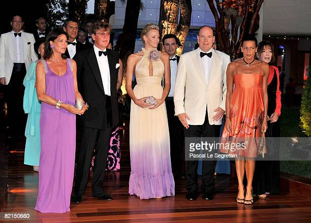 Princess Caroline of Hanover Prince Ernst of Hanover Charlene Wittstock Prince Albert II of Monaco and Princess Stephanie of Monaco attend the 60th...