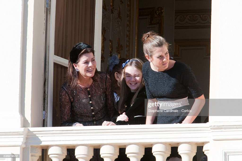 Princess Caroline of Hanover ,Princess Alexandra of Hanover and Charlotte Casiraghi attend the National Day celebrations 2010 in Monaco.