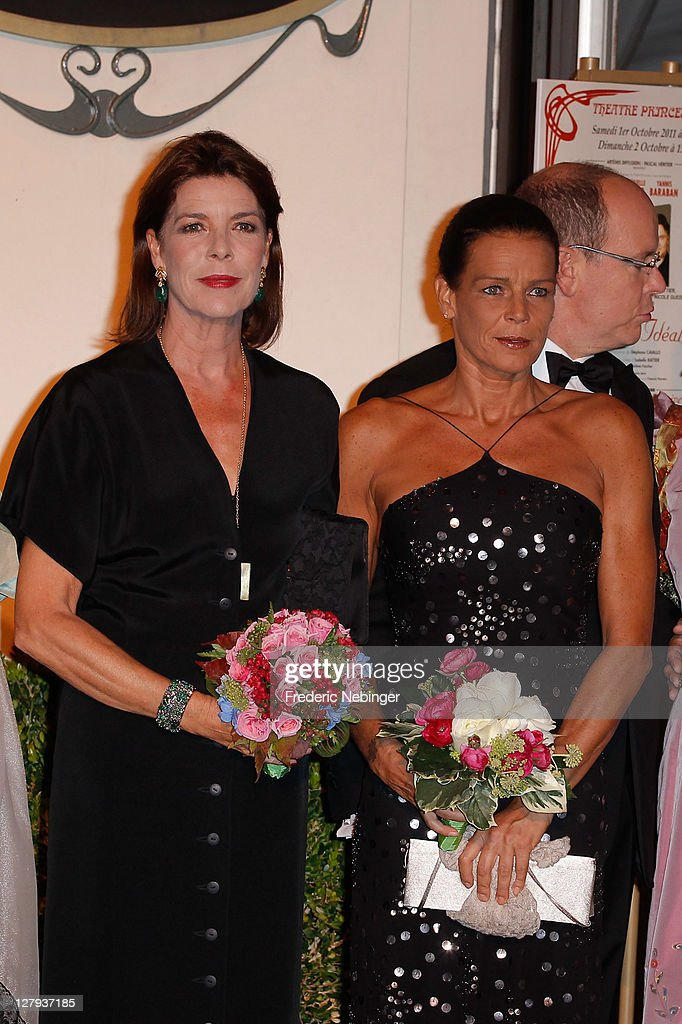 Princess Caroline of Hanover , SAS <a gi-track='captionPersonalityLinkClicked' href=/galleries/search?phrase=Princess+Stephanie+of+Monaco&family=editorial&specificpeople=171100 ng-click='$event.stopPropagation()'>Princess Stephanie of Monaco</a> and SAS <a gi-track='captionPersonalityLinkClicked' href=/galleries/search?phrase=Prince+Albert+II+of+Monaco&family=editorial&specificpeople=201707 ng-click='$event.stopPropagation()'>Prince Albert II of Monaco</a> attend the Theatre Princesse Grace 30th Anniversary Celebration at Theatre Princesse Grace on October 3, 2011 in Monaco, Monaco.