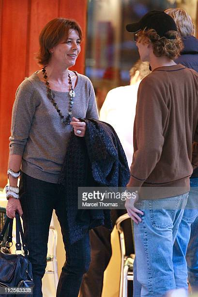 Princess Caroline of Hanover sighting having lunch with son Prince Pierre Casiraghi at Cipriani restaurant in SOHO on October 26 2007 in New York City