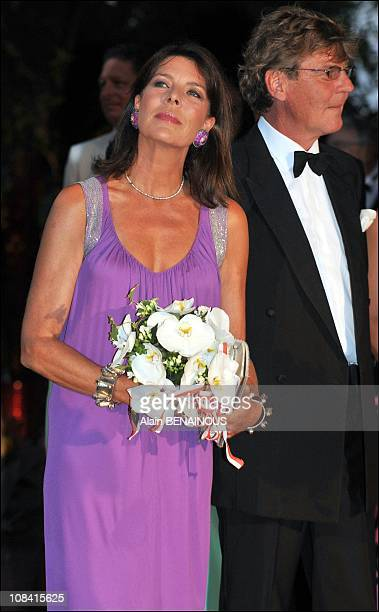 Princess Caroline of Hanover with Ernst August of Hanover attend the 60th Red Cross Ball in Monte Carlo Monaco on August 02nd 2008