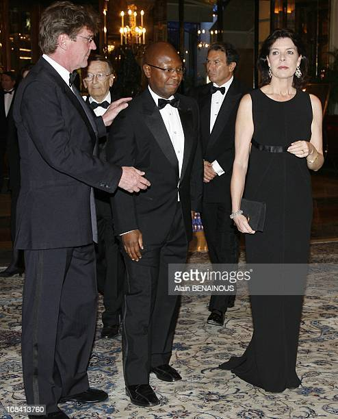 Princess Caroline of Hanover with Prince Ernst August of Hanover and Francis Kassasa in Monte Carlo Monaco on April 10th 2008