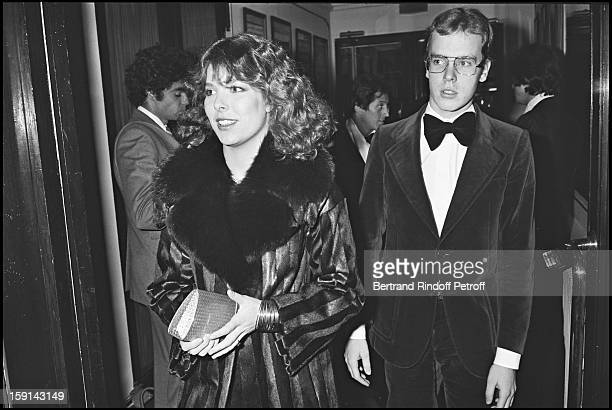 Princess Caroline of Monaco and brother Prince Albert of Monaco attend a party Maxim's restaurant in Paris in 1978