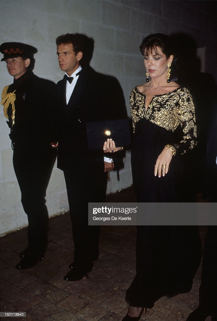 <a gi-track='captionPersonalityLinkClicked' href=/galleries/search?phrase=Princess+Caroline+of+Monaco&family=editorial&specificpeople=92397 ng-click='$event.stopPropagation()'>Princess Caroline of Monaco</a> and <a gi-track='captionPersonalityLinkClicked' href=/galleries/search?phrase=Francois-Marie+Banier&family=editorial&specificpeople=6583891 ng-click='$event.stopPropagation()'>Francois-Marie Banier</a> in Chambord, France on November 9, 1988.