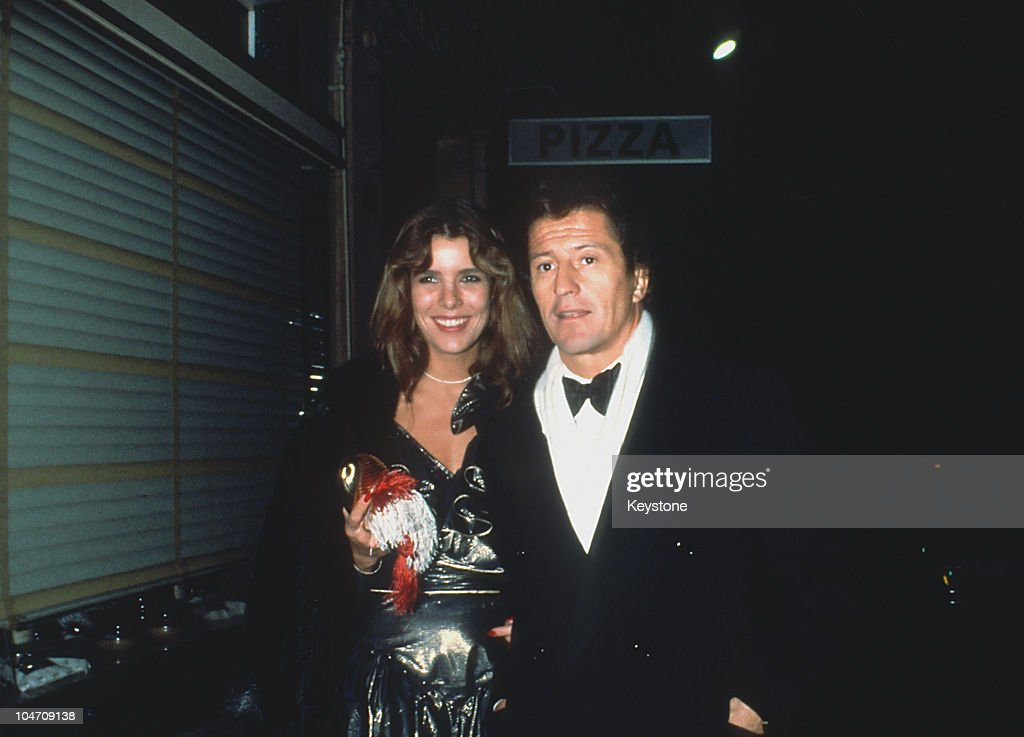 Princess Caroline of Monaco and her husband Philippe Junot leaving the 'Castel' nightclub in Paris France on October 29 1979