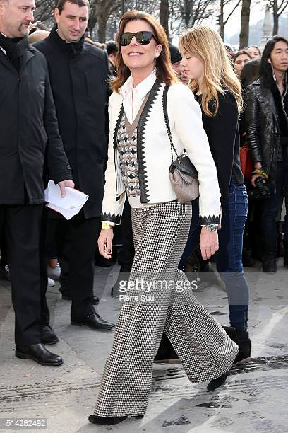 Princess Caroline of Monaco and Princess Alexandra of Hanover arrive at the Chanel show as part of the Paris Fashion Week Womenswear Fall/Winter...