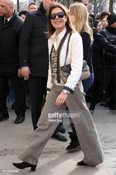 Princess Caroline of Monaco arrives at the Chanel show as part of the Paris Fashion Week Womenswear Fall/Winter 2016/2017 on March 8 2016 in Paris...