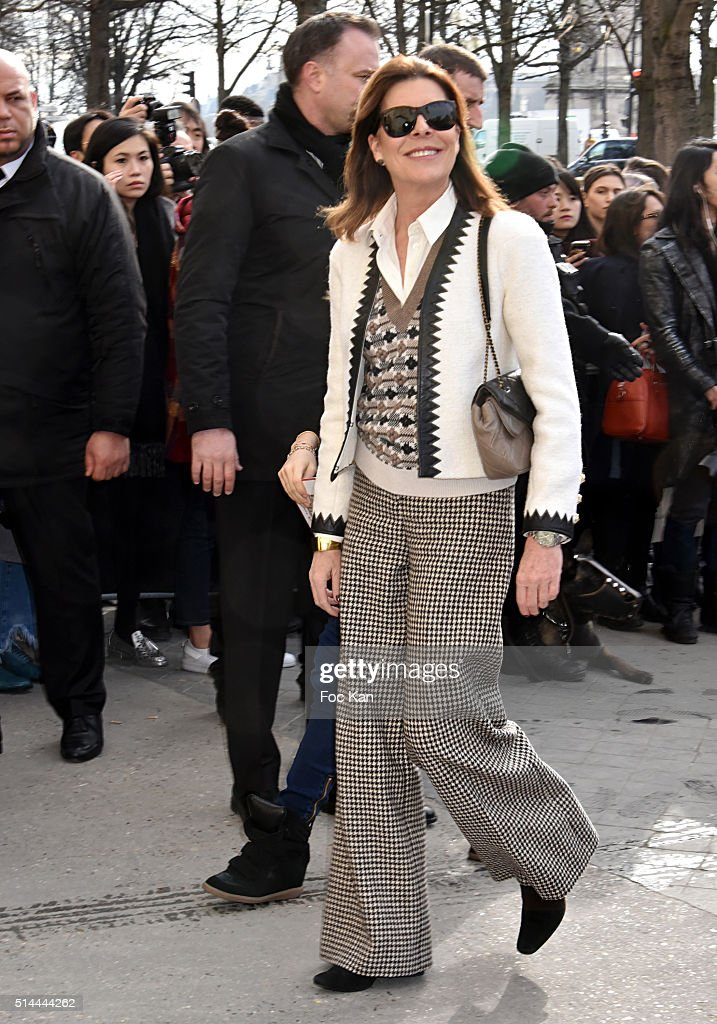 Princess Caroline of Monaco arrives at the Chanel show as part of the Paris Fashion Week Womenswear Fall/Winter 2016/2017 on March 8, 2016 in Paris, France.