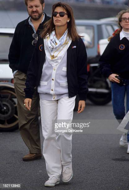 Princess Caroline of Monaco during the Off Shore World Championship in Guernsey on September 17 1988