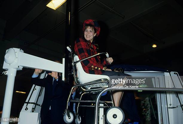 Princess Caroline of Monaco in London on January 1986