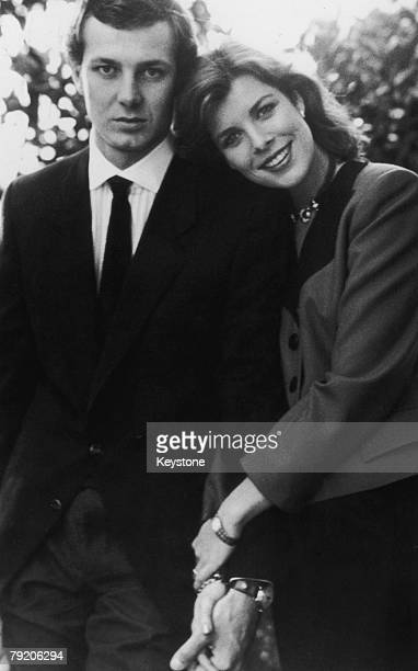 Princess Caroline of Monaco with her fiance Italian businessman Stefano Casiraghi December 1983 The couple were married on December 29th