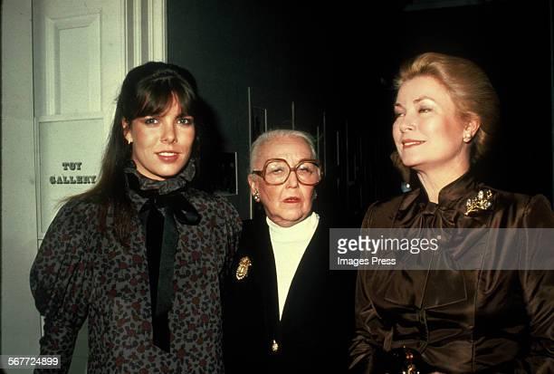 Princess Caroline Vera Maxwell and Grace Kelly circa 1980 in New York City