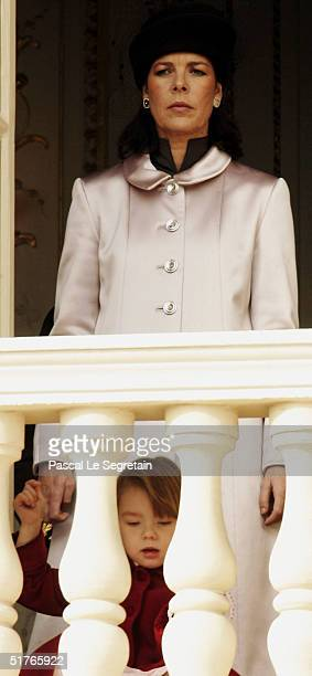 Princess Caroline with her daughter Princess Alexandra at the balcony as part of the National Day Celebrations on November 19 2004 in Monte Carlo...