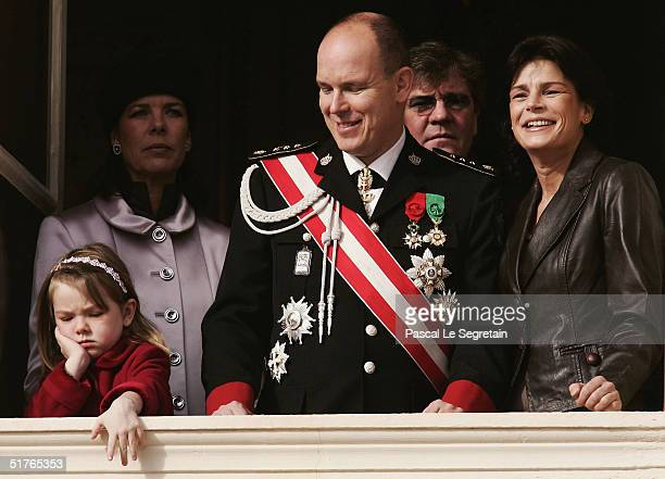 Princess Caroline with her daughter Princess Alexandra looking bored Prince Albert Prince Ernst August of Hanover and Princess Stephanie at the...