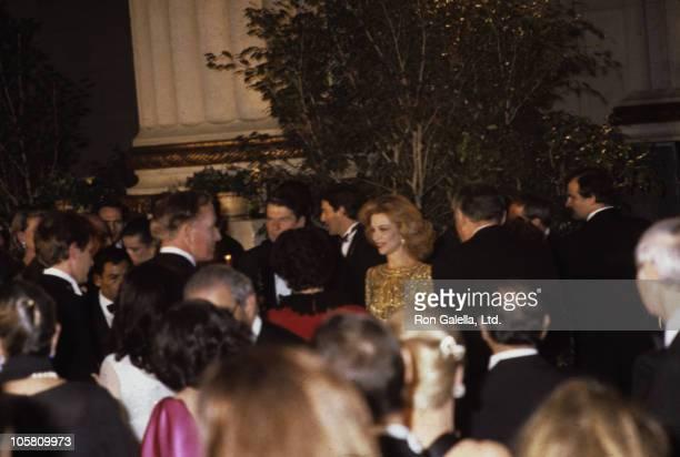Princess Caroling President Reagan and Lynn Wyatt