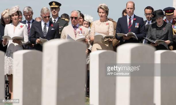 Princess Catherine Duchess of Cambridge King Philippe of Belgium Britain's Prince Charles Queen Mathilde of Belgium Britain's Prince William and...