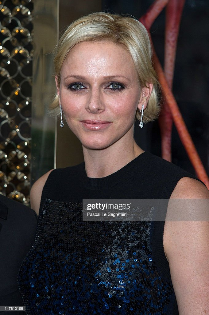 Princess Charlene attends the Louis Vuitton new boutique opening as part of Paris Haute-Couture Fashion Week Fall / Winter 2012/13 at Place Vendome on July 3, 2012 in Paris, France.