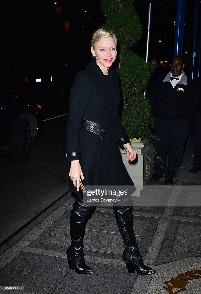 Princess Charlene attends the Versace Dinner at The Waldorf Towers on October 24, 2012 in New York City.