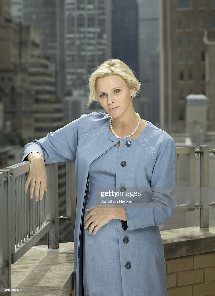 Princess Charlene of Monacco is photographed at the Regency Hotel on September 24, 2014 in New York City. NO