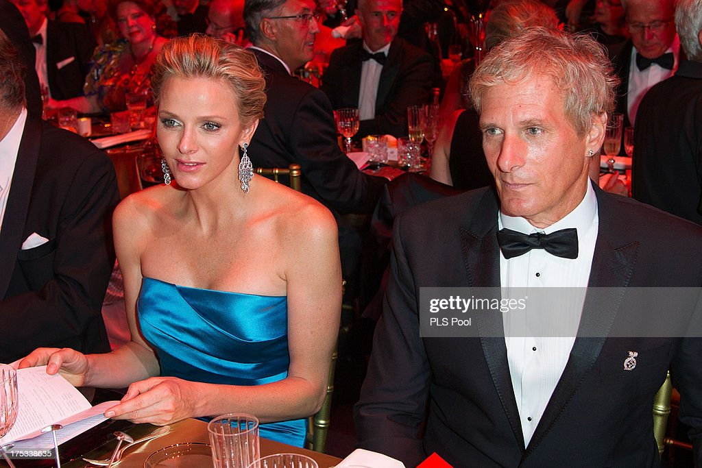 Princess Charlene of Monaco and <a gi-track='captionPersonalityLinkClicked' href=/galleries/search?phrase=Michael+Bolton&family=editorial&specificpeople=208230 ng-click='$event.stopPropagation()'>Michael Bolton</a> attend the 65th Monaco Red Cross Ball Gala at Sporting Monte-Carlo on August 2, 2013 in Monte-Carlo, Monaco.