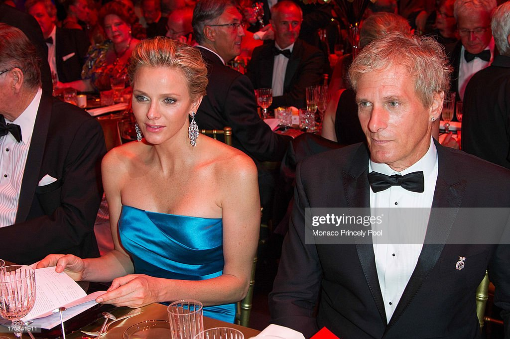 Princess <a gi-track='captionPersonalityLinkClicked' href=/galleries/search?phrase=Charlene+-+Princess+of+Monaco&family=editorial&specificpeople=726115 ng-click='$event.stopPropagation()'>Charlene</a> of Monaco and <a gi-track='captionPersonalityLinkClicked' href=/galleries/search?phrase=Michael+Bolton&family=editorial&specificpeople=208230 ng-click='$event.stopPropagation()'>Michael Bolton</a> attend the 65th Monaco Red Cross Ball Gala at Sporting Monte-Carlo on August 2, 2013 in Monte-Carlo, Monaco.