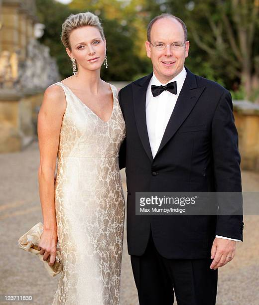 Princess Charlene of Monaco and Prince Albert II of Monaco attend the Yorkshire Variety Club's Golden Jubilee Ball at Harewood House on September 4...