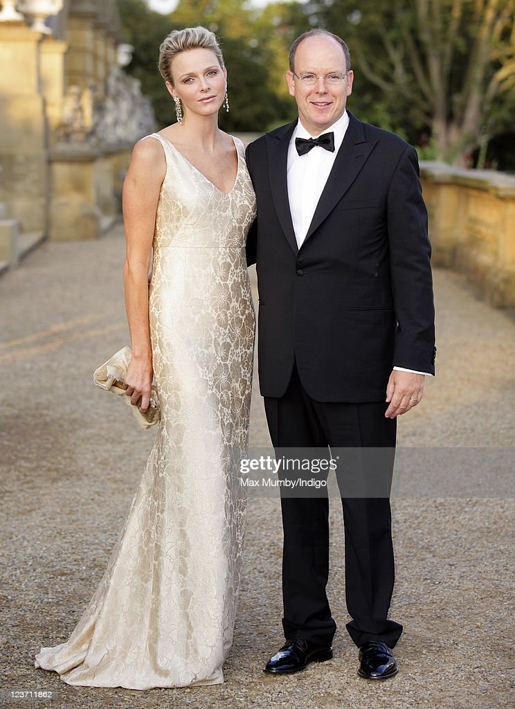 Princess <a gi-track='captionPersonalityLinkClicked' href=/galleries/search?phrase=Charlene+-+Princess+of+Monaco&family=editorial&specificpeople=726115 ng-click='$event.stopPropagation()'>Charlene</a> of Monaco and <a gi-track='captionPersonalityLinkClicked' href=/galleries/search?phrase=Prince+Albert+II+of+Monaco&family=editorial&specificpeople=201707 ng-click='$event.stopPropagation()'>Prince Albert II of Monaco</a> attend the Yorkshire Variety Club's Golden Jubilee Ball at Harewood House on September 4, 2011 in Leeds, England.