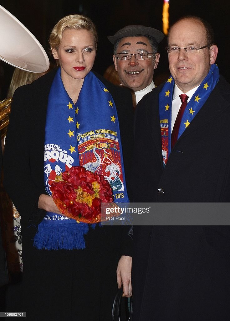 Princess Charlene of Monaco and Prince Albert II of Monaco attend the closing ceremony of the Monte-Carlo 37th International Circus Festival on January 22, 2013 in Monte-Carlo, Monaco.