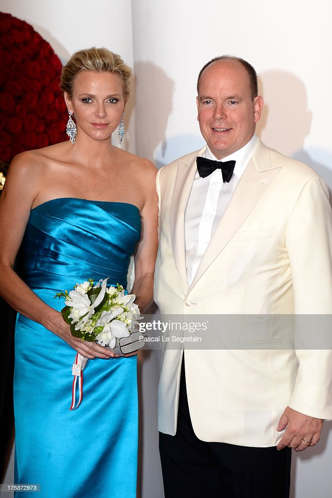 Princess Charlene of Monaco and Prince Albert II of Monaco attend the 65th Monaco Red Cross Ball Gala at Sporting Monte-Carlo on August 2, 2013 in Monte-Carlo, Monaco.