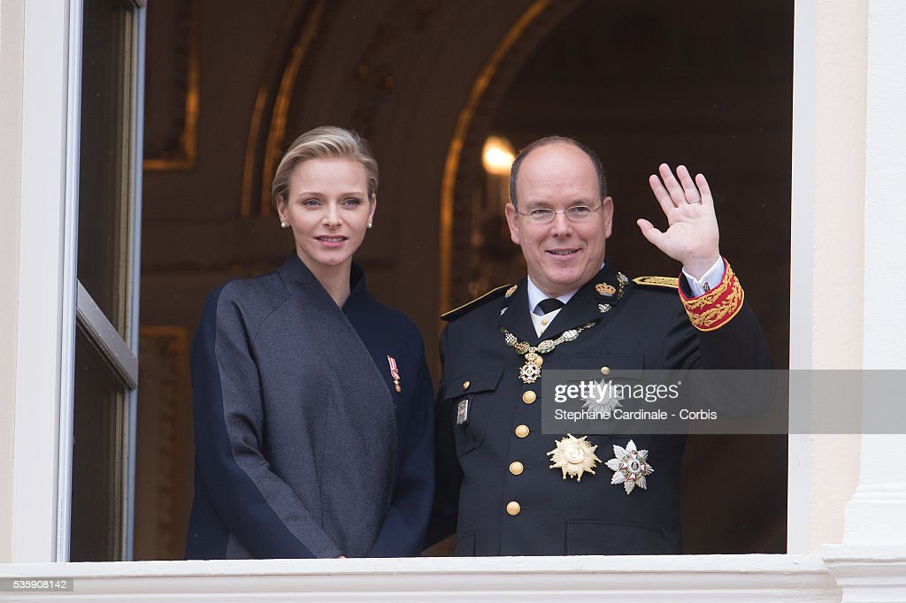 Princess Charlene of Monaco and Prince Albert II of Monaco attend the National Day Parade as part of Monaco National Day Celebrations at Monaco Palace, in Monaco.