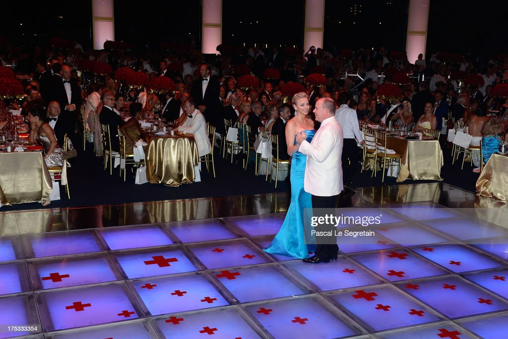 Princess Charlene of Monaco and Prince Albert II of Monaco dance during the 65th Monaco Red Cross Ball Gala at Sporting Monte-Carlo on August 2, 2013 in Monte-Carlo, Monaco.
