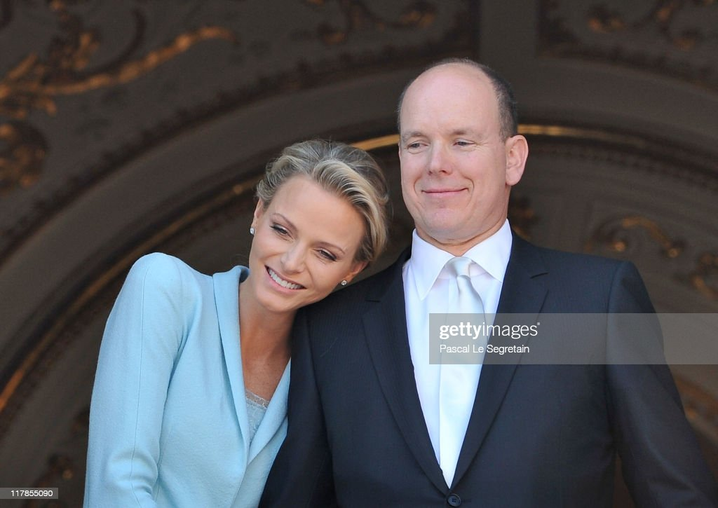 Princess <a gi-track='captionPersonalityLinkClicked' href=/galleries/search?phrase=Charlene+-+Princess+of+Monaco&family=editorial&specificpeople=726115 ng-click='$event.stopPropagation()'>Charlene</a> of Monaco and <a gi-track='captionPersonalityLinkClicked' href=/galleries/search?phrase=Prince+Albert+II+of+Monaco&family=editorial&specificpeople=201707 ng-click='$event.stopPropagation()'>Prince Albert II of Monaco</a> pose on the balcony after the civil ceremony of the Royal Wedding of <a gi-track='captionPersonalityLinkClicked' href=/galleries/search?phrase=Prince+Albert+II+of+Monaco&family=editorial&specificpeople=201707 ng-click='$event.stopPropagation()'>Prince Albert II of Monaco</a> to <a gi-track='captionPersonalityLinkClicked' href=/galleries/search?phrase=Charlene+-+Princess+of+Monaco&family=editorial&specificpeople=726115 ng-click='$event.stopPropagation()'>Charlene</a> Wittstock at the Prince's Palace on July 1, 2011 in Monaco. The ceremony took place in the Throne Room of the Prince's Palace of Monaco, followed by a religious ceremony to be conducted in the main courtyard of the Palace on July 2. With her marriage to the head of state of Principality of Monaco, <a gi-track='captionPersonalityLinkClicked' href=/galleries/search?phrase=Charlene+-+Princess+of+Monaco&family=editorial&specificpeople=726115 ng-click='$event.stopPropagation()'>Charlene</a> Wittstock has/will become Princess consort of Monaco and gain the title, Princess <a gi-track='captionPersonalityLinkClicked' href=/galleries/search?phrase=Charlene+-+Princess+of+Monaco&family=editorial&specificpeople=726115 ng-click='$event.stopPropagation()'>Charlene</a> of Monaco. Celebrations including concerts and firework displays are being held across several days, attended by a guest list of global celebrities and heads of state.