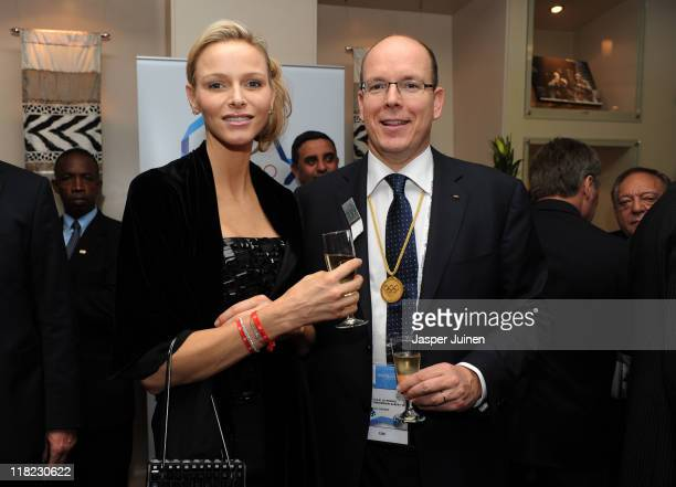 Princess Charlene of Monaco and Prince Albert II of Monaco prior to the opening ceremony og the 123rd IOC session on July 5 2011 in Durban South...
