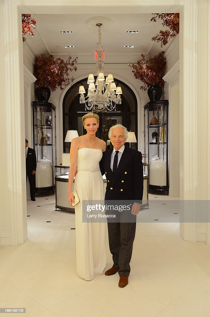 Princess <a gi-track='captionPersonalityLinkClicked' href=/galleries/search?phrase=Charlene+-+Princess+of+Monaco&family=editorial&specificpeople=726115 ng-click='$event.stopPropagation()'>Charlene</a> of Monaco and Ralph Lauren attend as Ralph Lauren Presents Exclusive Screening Of Hitchcock's To Catch A Thief Celebrating The Princess Grace Foundation at Ralph Lauren Women's Store on October 28, 2013 in New York City.