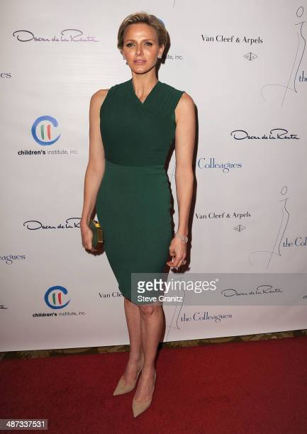 Princess Charlene of Monaco arrives at the The Colleagues' 26th Annual Spring Luncheon at Regent Beverly Wilshire Hotel on April 29 2014 in Beverly...