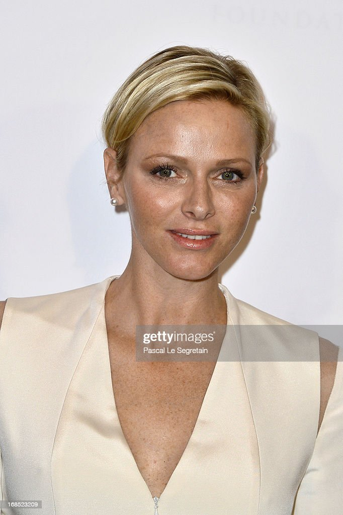 Princess Charlene of Monaco arrives at The White Feather Foundation Charity Ball 2013 at Ballet De Monte Carlo on May 10, 2013 in Monaco, Monaco. The event raises funds for Julian Lennon's charity 'The White Feather Foundation' which aims to give a voice and support to those who cannot be heard, aids, ongoing humanitarian and environmental projects, with an emphasis on water projects in 2013.