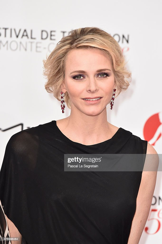 Princess Charlene of Monaco arrives to attend the opening ceremony of the 55th Monte Carlo TV Festival on June 13, 2015 in Monte-Carlo, Monaco.