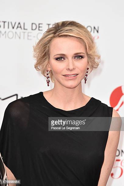 Princess Charlene of Monaco arrives to attend the opening ceremony of the 55th Monte Carlo TV Festival on June 13 2015 in MonteCarlo Monaco