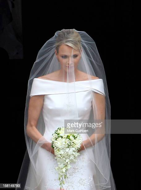 Princess Charlene Of Monaco Arriving At The Royal Palace In Monaco For The Wedding Of Hsh Prince Albert Ii Of Monaco To Miss Charlene Wittstock