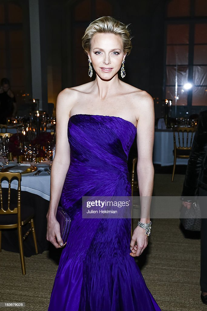 Princess <a gi-track='captionPersonalityLinkClicked' href=/galleries/search?phrase=Charlene+-+Princess+of+Monaco&family=editorial&specificpeople=726115 ng-click='$event.stopPropagation()'>Charlene</a> of Monaco attends a private dinner following the presentation of the Ralph Lauren Fall 13 Collection Show at Les Beaux-Arts de Paris on October 8, 2013 in Paris, France. On this occasion Ralph Lauren celebrates the restoration project and patron sponsorship of L'Ecole des Beaux-Arts.