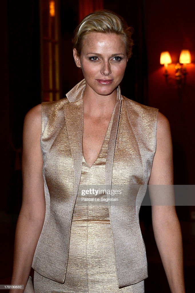 Princess Charlene of Monaco attends a private dinner on the eve of the wedding of Princess Madeleine and Christopher O'Neill hosted by King Carl XVI Gustaf and Queen Silvia at The Grand Hotel on June 7, 2013 in Stockholm, Sweden.
