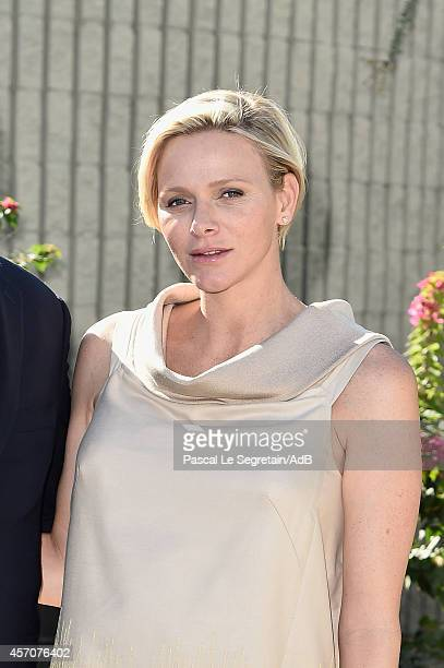 Princess Charlene of Monaco attends a visit to the Barbara Sinatra Children's Center on October 11 2014 in Rancho Mirage California