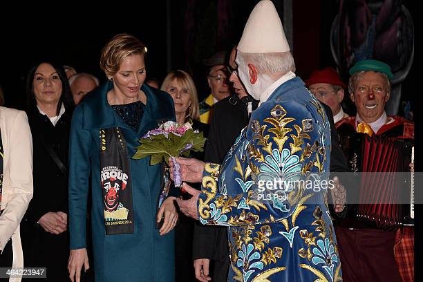 Princess Charlene of Monaco attends the 38th International Circus Festival on January 21 2014 in MonteCarlo Monaco