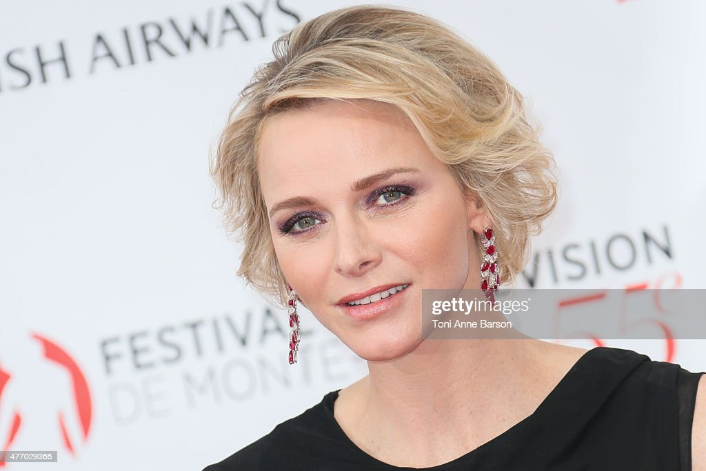 Princess <a gi-track='captionPersonalityLinkClicked' href=/galleries/search?phrase=Charlene+-+Princess+of+Monaco&family=editorial&specificpeople=726115 ng-click='$event.stopPropagation()'>Charlene</a> of Monaco attends the 55th Monte Carlo TV Festival Opening Ceremony at the Grimaldi Forum on June 13, 2015 in Monte-Carlo, Monaco.