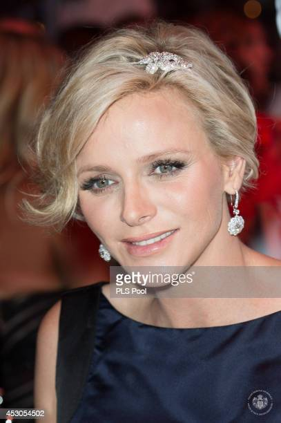 Princess Charlene of Monaco attends the 66th Monaco Red Cross Ball Gala at Sporting MonteCarlo on August 1 2014 in MonteCarlo Monaco