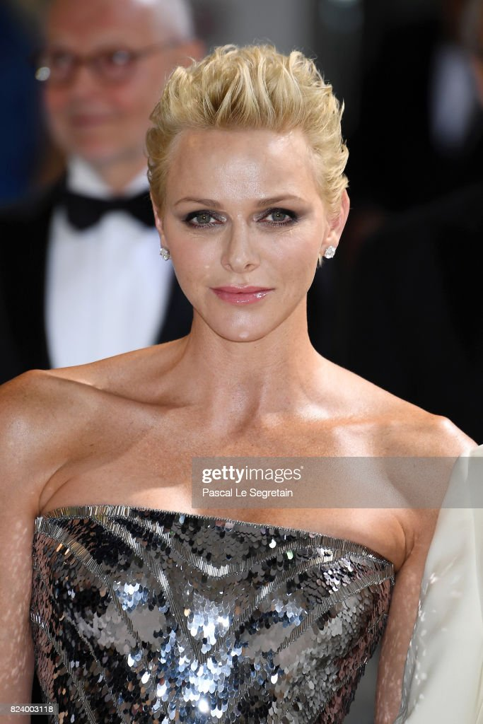 Princess Charlene of Monaco attends the 69th Monaco Red Cross Ball Gala at Sporting Monte-Carlo on July 28, 2017 in Monte-Carlo, Monaco.