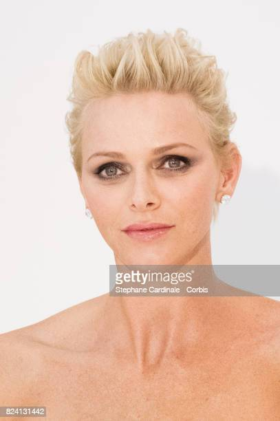 Princess Charlene of Monaco attends the 69th Monaco Red Cross Ball Gala at Sporting MonteCarlo on July 28 2017 in MonteCarlo Monaco