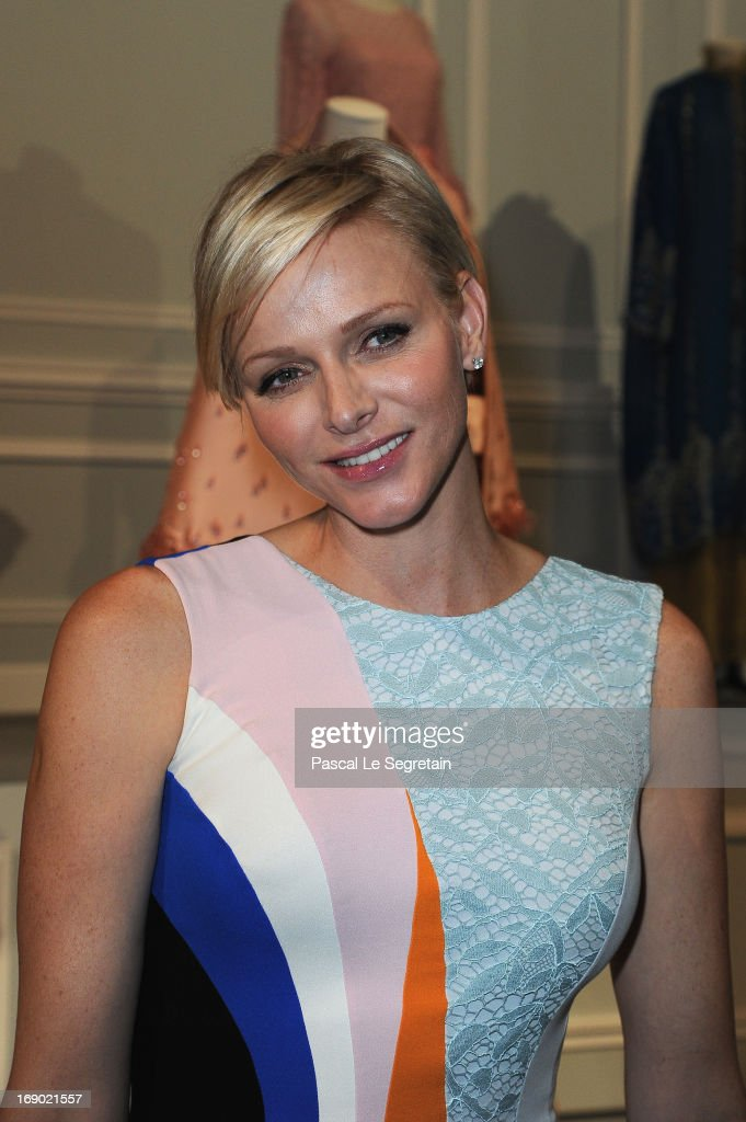 Princess Charlene of Monaco attends the Dior Cruise Collection 2014 cocktail on May 18, 2013 in Monaco, Monaco.
