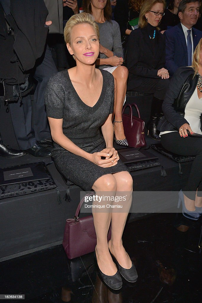 Princess <a gi-track='captionPersonalityLinkClicked' href=/galleries/search?phrase=Charlene+-+Princess+of+Monaco&family=editorial&specificpeople=726115 ng-click='$event.stopPropagation()'>Charlene</a> of Monaco attends the Louis Vuitton show as part of the Paris Fashion Week Womenswear Spring/Summer 2014 on October 2, 2013 in Paris, France.